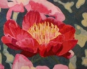 Peony Art Quilt Pattern by Lenore Crawford