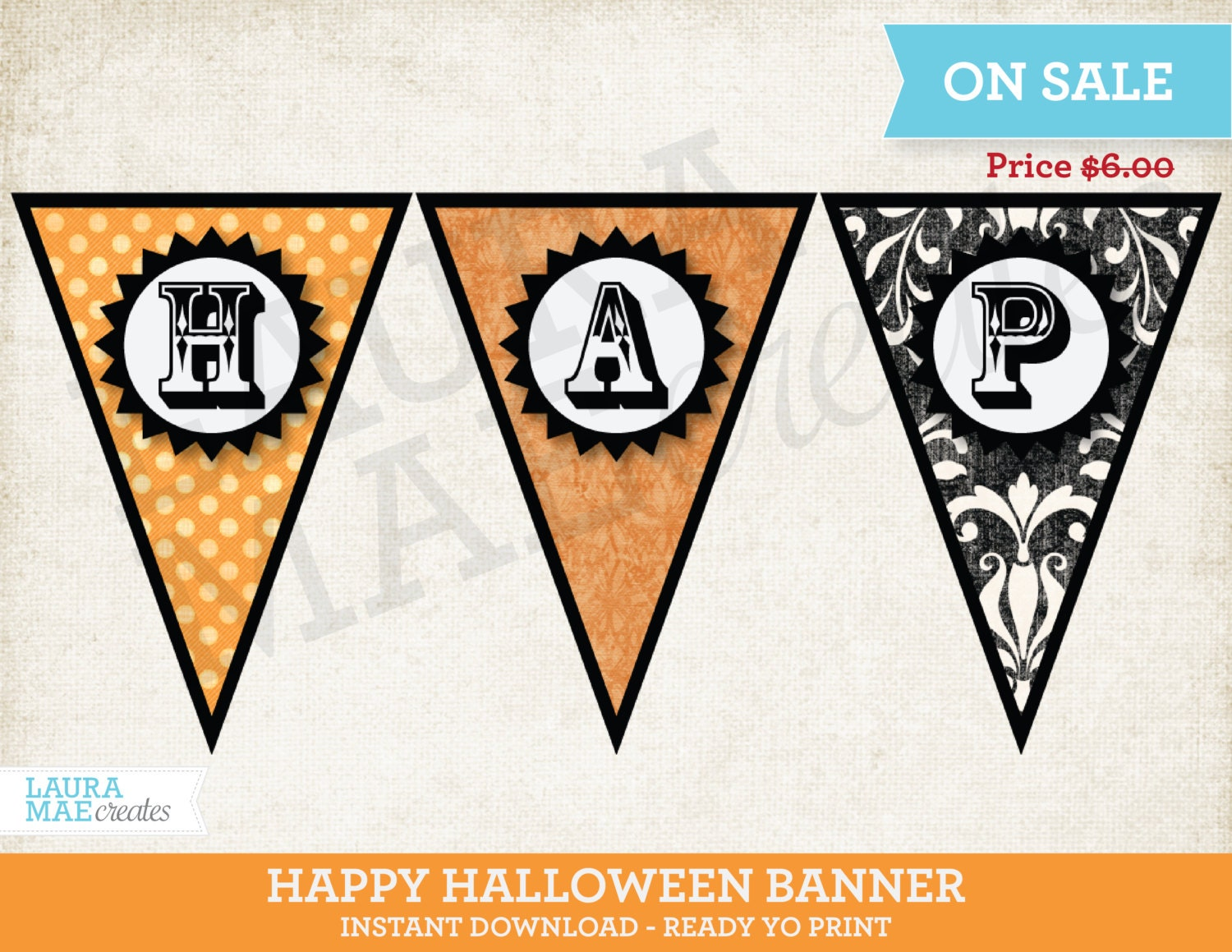 It is a picture of Epic Happy Halloween Banner Printable