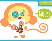 Mouse PDF Pattern & Tutorial - Felt Plush Mouse DIY
