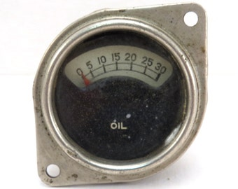 Automobile Oil Pressure Gauge Vintage 1930s Car Oil Gauge
