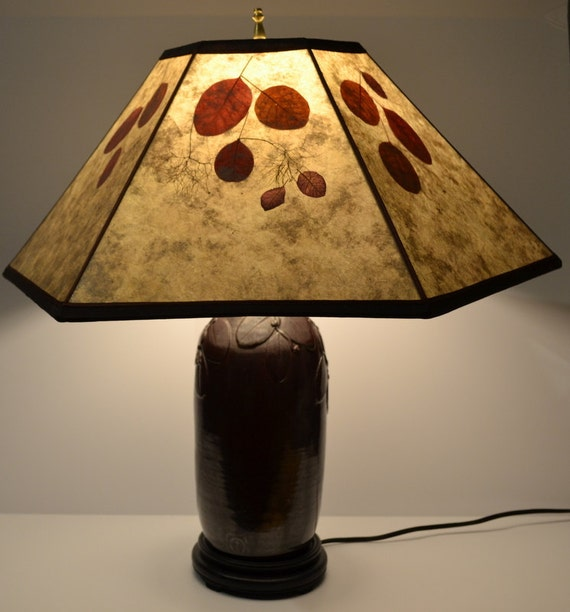 A Stoneware Wheel Thrown Lamp Base With A Handmade Mica