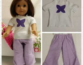 Free Shipping -Purple Butterfly Pajama Set - free shipping with another purchase