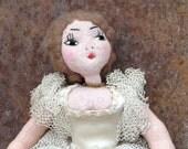 Vintage hand sewn ballerina doll