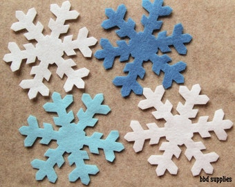 Frozen - Snowflakes Style 4 - 12 Die Cut Felt Shapes