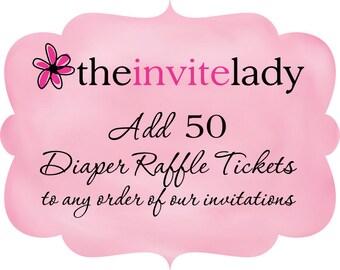 Diaper Raffle Ticket Add On, Set of 50