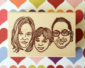 Family Portrait Stamp/ Family portrait/ Custom family portrait stamp/ Personalized stamp/ Christmas gift/ Any tests on rubber stamp for FREE
