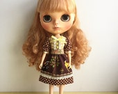 Blythe Dress,Doll Sleeve ,Baby Doll, Brown Bambi and Friends, Japanese Disney Fabric
