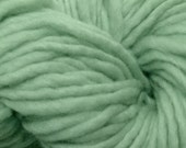 Bulky / Chunky Weight Hand Painted Wool Yarn Pencil Roving in Glass Green 60 yards Hand Dyed