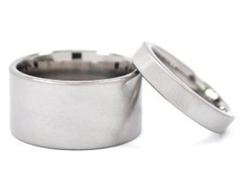 Titanium Ring Sets For Him And Her, Ring Sets, His And Her Rings: 12F-XB.4F-XB