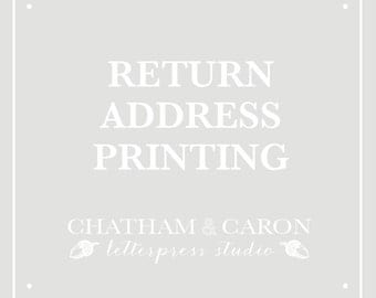 ADD ON: Letterpress Return Address Printing