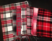 Red Black Gray Flannel Fabrics