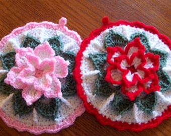 English Flower Garden - Wall Hangings / Potholders (pr)