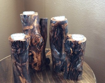 Holiday Rustic Candle Set  in Elk rubbed aspen