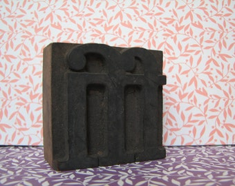 VINTAGE - The LETTER M - Printing - Wood Block Letters - Letter Press - Handmade - Letters - Blocks - Paper Crafting - Monogram - Display
