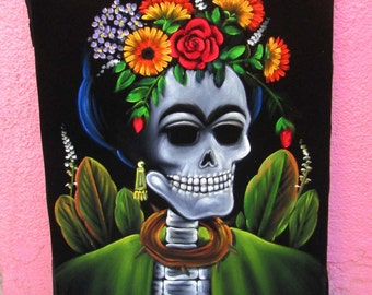Day of the dead frida kahlo diego rivera mexico original for Diego rivera day of the dead mural