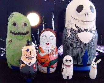 Nightmare Before Christmas Matryoshka Dolls