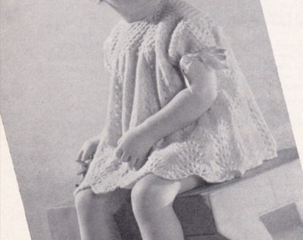 Vintage 1940s Toddler Knit Dress PATTERN  Instant download