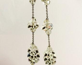 Beautiful Art Deco Rock Crystal Sterling Silver Vintage Antique Necklace