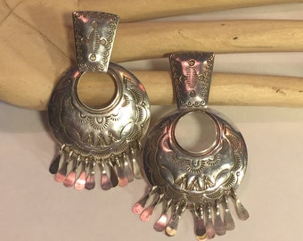 Beautiful Sterling Silver Vintage Earrings