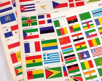 Flags for Crafting, Scrapbooking, Card Making. 8 Pages of International Flags.