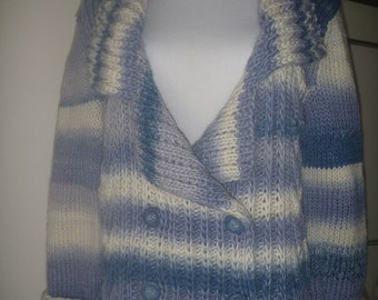 Chrome blue wool cardigan no. 240