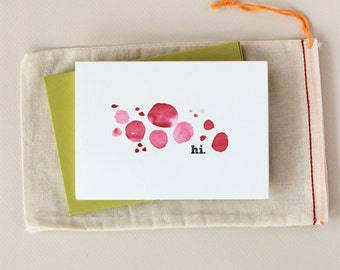 Hi: Watercolor Notecard Set