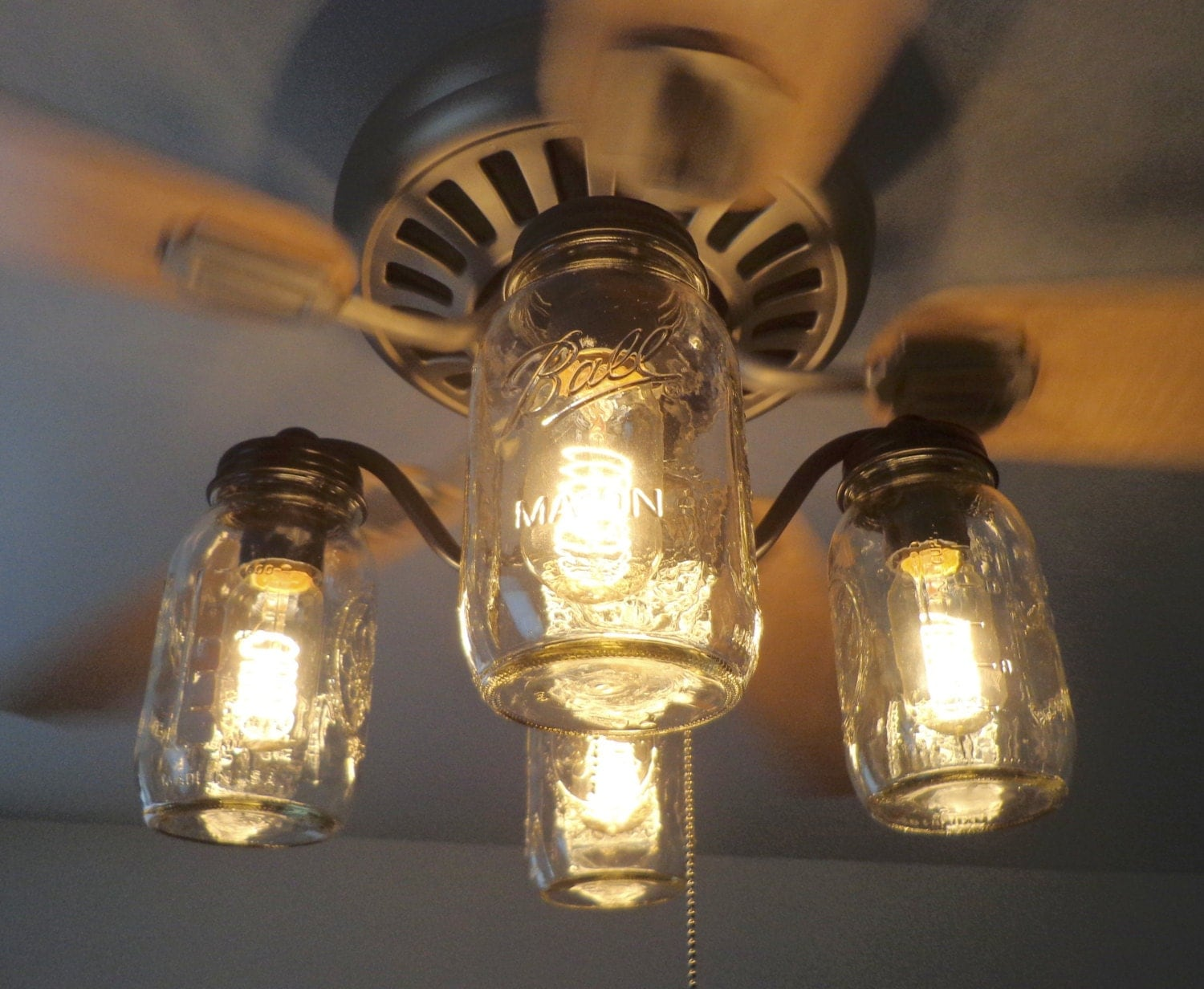 Mason Jar Ceiling Fan Light Kit Only New Quarts By Lampgoods