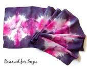 Pink Sun Burst Hand Dyed Silk Scarf