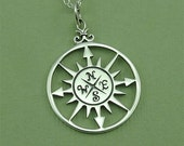 Nautical Jewelry - sterling silver necklace - nautical pendant