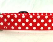 Red Polka Dot Bikini White Polka Dots on Red Dog Collar