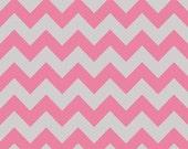 Riley Blake DesignsMedium Holiday & School Colors Chevron. C380-10 Hot Pink/Gray - Medium Chevron.. By the YARD