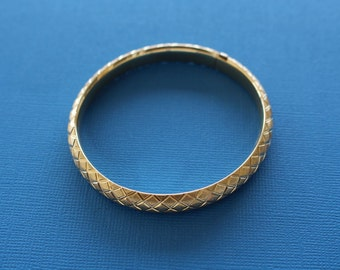14K Gold Bracelet Expandable Bangle