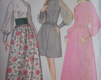 Sale - Vintage- McCall's 9461 - Dress - Three Versions - Size 14 - 16 - Bust 36 - 38 - UNCUT Pattern