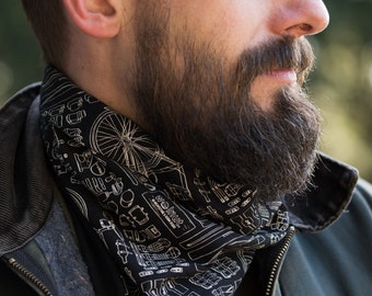 Bicycle Print Bandana Neckerchief