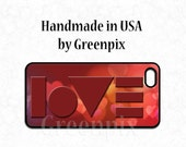 Valentine love iPhone 6 6S case, red hearts, Galaxy cover, Valentine's day gift for her, art deco cellphone, iPhone 4 4S 5 5S 5C Galaxy S5