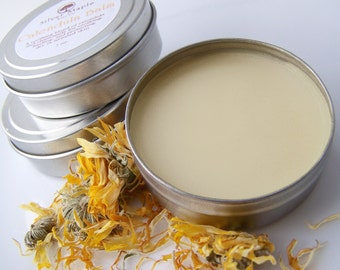 Handmade Calendula Herbal Balm Salve 2 oz. tin