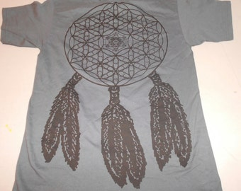 T-Shirt - Dreamcatcher (Black on Charcoal)