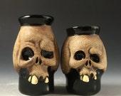 Ceramic Skull Shot Glasses-Couples