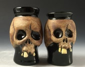 Ceramic Skull Shot Glasses-Couples E