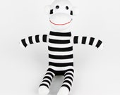 Get Weill New Year's Gift Handmade Sock Monkey Stuffed Animal Doll Baby Toys