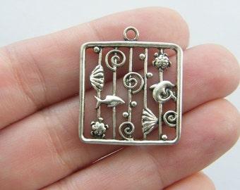4 The Sea pendants tibetan silver SC29