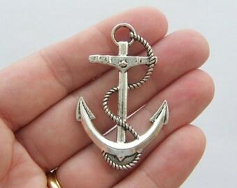 2 Anchor charms tibetan silver SC69