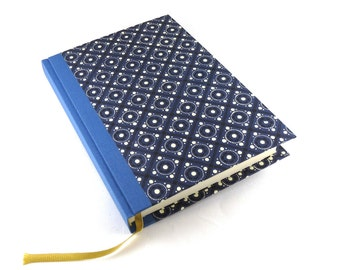 Large A5 Day Planner pinny pattern blue, large Daily Diary 2017