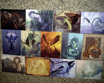 Bakers Dozen Fantasy Postcards by Neon Dragon Art