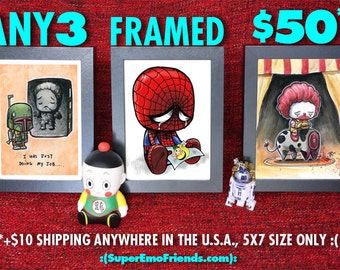Any three 5x7 prints WITH FRAME