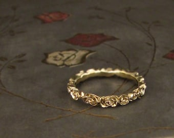 Narrow Rose Band (14K gold) - Made to Order