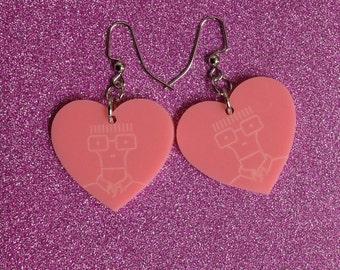 I Heart Milo Earrings - Pink
