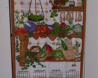 1992 Calendar Towel