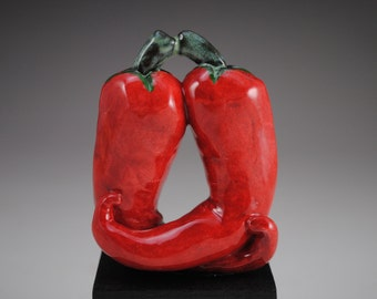 Red Hot Love--Small Chili Pepper Sculpture
