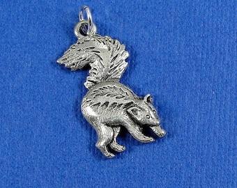 Skunk Charm - Silver Plated Skunk Charm for Necklace or Bracelet